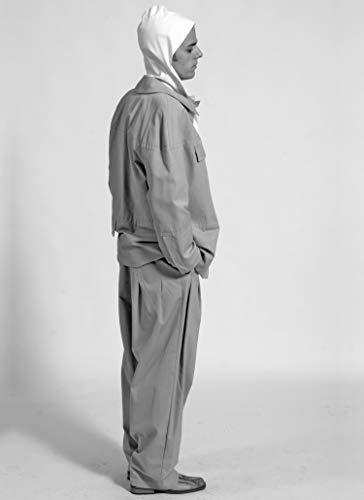 MÄNNER HOSE weit, mit Falten, hohe Taille, Wolle, Baumwolle, 1940er - 1960er Jahre -