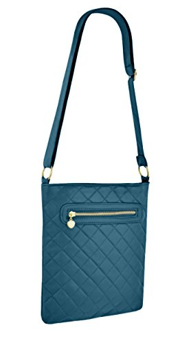 Femmes Quilted Faux Leather Zipped Messenger Crossbody Sac à bandoulière