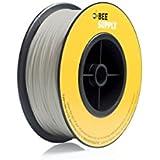 BEEVERYCREATIVE CBA110332 BEESUPPLY PLA Filament für 3D Drucker, 1,75 mm, 330 g, A102, Grauweiß - gut und günstig