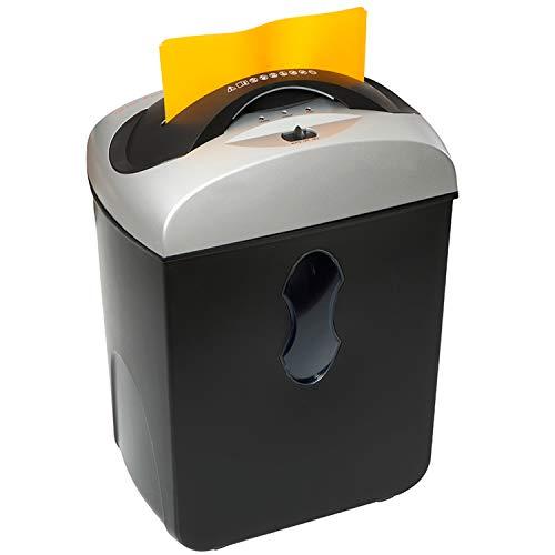 Genie 550 MXCD leiser Hochsicherheits Aktenvernichter, bis zu 5 Blatt, Mikro-Partikelschnitt (Sicherheitsstufe P-5), mit CD-Shredder - geeignet für Datenschutz nach neuer Verordnung, schwarz/silber (Mikro-start)