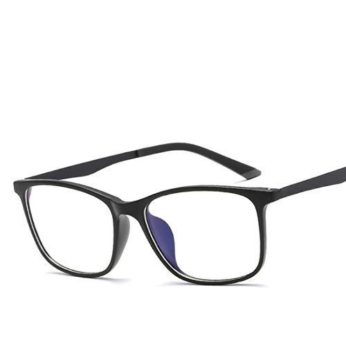 Jiuyizhe Anti-Blaulicht-Brille ultraleichte Retro-Brille für Frauen Männer Computer Brille Frauen Anti-Augen-Belastung (Color : Black)