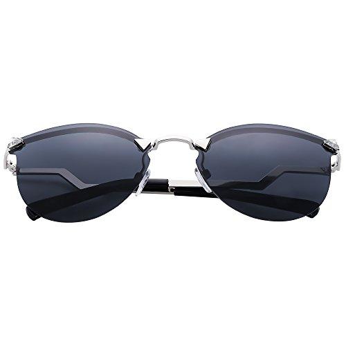 Menton Ezil Damen Sonnenbrille Gr. Medium, schwarz (Glas-block-caps)