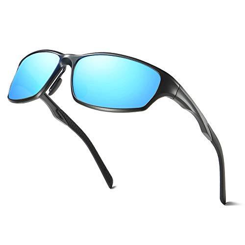 Nuolan occhiali da sole sportivi in metallo al-mg polarized per uomo e donna(uk-8419bl)