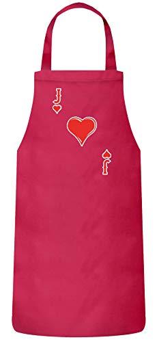 ShirtStreet lustige Karneval Gruppen JGA Verkleidung Frauen Herren Barbecue Baumwoll Grillschürze Kochschürze Herz Bube Kostüm, Größe: onesize,Pink