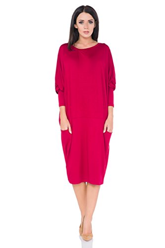 FUTURO FASHION Damen Column Kleid Purpurrot