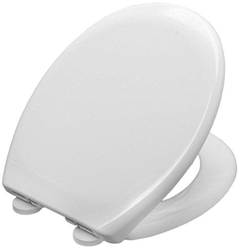 WC Brille Sitz DMWC01 von DUSCHMEISTER abnehmbar weiß mit geräuschloser Absenkautomatik mit Rostfreien Edelstahl Scharniere Softclose Toilettensitz Toilettendeckel