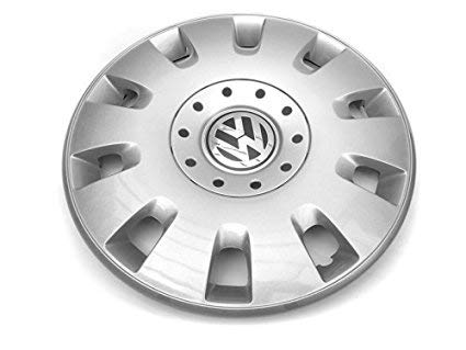 Volkswagen 7H0601147DRGZ Radkappe (1 Stück) Radzierblende Original VW T5 Radblende 16 Zoll, silber