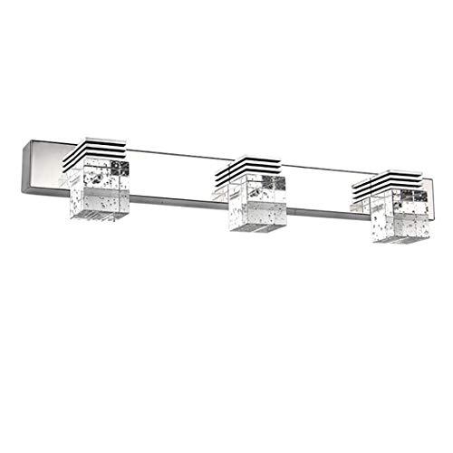 Moderne Kristallwandleuchte über Spiegel, der 17 '' LED 9W Badezimmer-Waschraum-Licht-Schminkspiegel beleuchtet, bilden Leuchte -