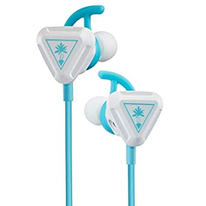 Turtle Beach Battle Buds In-Ear-Gaming-Headset (für Mobile Gaming, Nintendo Switch, Xbox One, PS4 und PS5) Weiß/Blaugrün