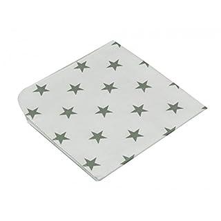 Asmi Moltontücher 3er Pack Sterne grau 40x40 cm
