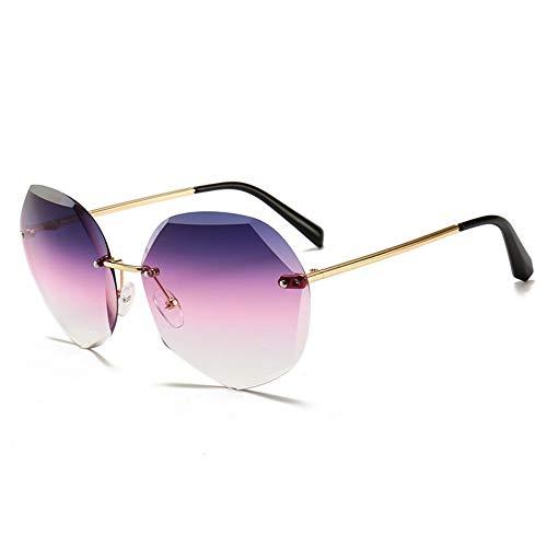 IFMASNN Outdoor, Sonnenbrillen, Mode, Trend, Damen, Metall, Trend, UV-Schutz, Gold grau lila