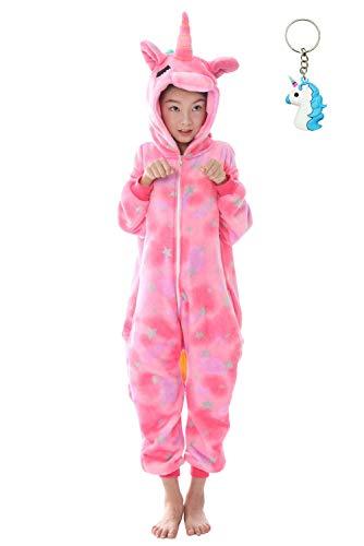 4e72eebdf6 Landove Pijama Unicornio Niña Niño Mono Franela Kigurumi Animales Entero  Unisex Sleepsuit Romper Homewear Onesie Cosplay