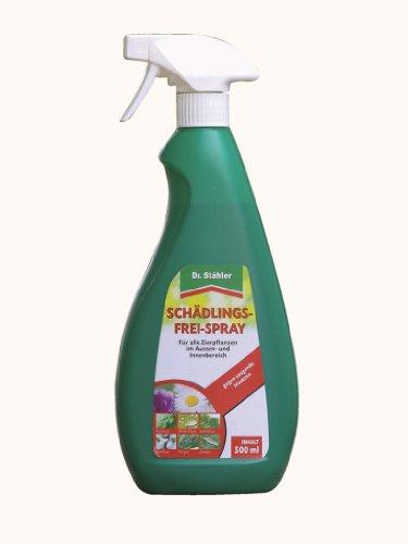 Dr. Stähler 001793 Zierpflanzen Schädlingsspray, 500 ml für Innen und Außen