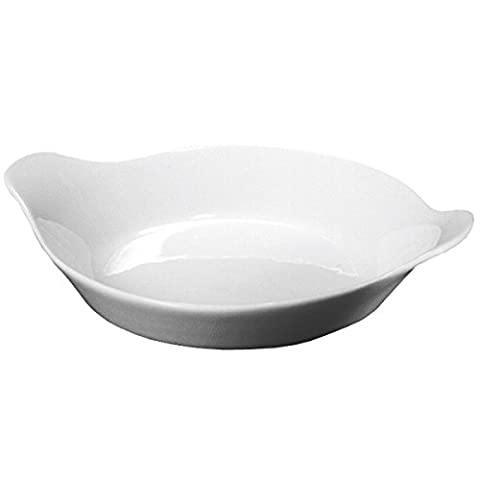 Royal Genware Round Eared Dishes 18cm - Pack of 6 | White Dishes, Porcelain Dishes, Vegetable Dishes | Commercial Quality Tableware by Royal