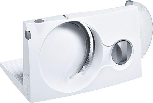 Bosch MAS4000W - cortafiambres barato profesional bosch 100 W, material plástico, cuchilla acero inoxidable, color blanco