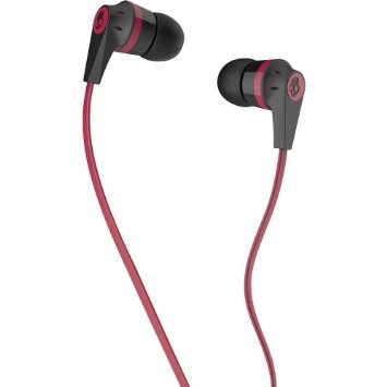 Skullcandy S2IKDY-003-Ink'd 2.0 Earbud Headphones with Mic-Red&Black  available at amazon for Rs.799