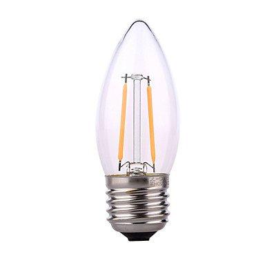 FDH E14 / E26/E27 4W 2*COB 320 lm / blanco cálido, Blanco Natural Lámparas de Vela LED 220-240 V CA,blanco cálido-E26/E27