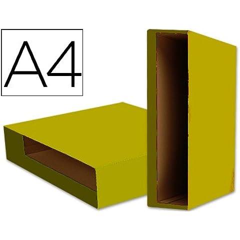 Scatola Cartone Raccoglitori a Leva, Formato A4, Colore: Giallo - Rw Leva