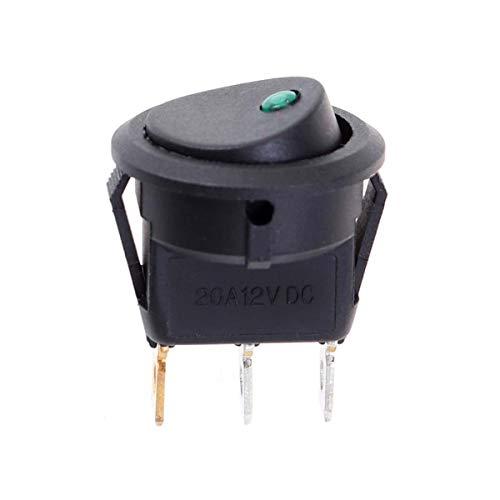 VOSAREA Bouton Poussoir d'interrupteur à Bascule de Voiture de 12V 20A 3 avec la lumière de LED pour la Moto de Voiture