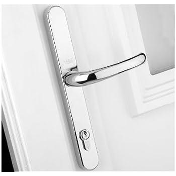 Upvc Door Handles Lever Pad D35 Chrome Amazon Co Uk