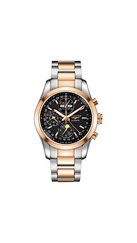 Longines Conquest Classic Automatic Moonphase Steel & 18k Rose Gold Mens Watch L2.798.5.52.7