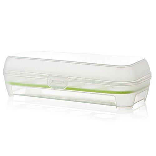 kingko Single Layer Kühlschrank Lebensmittel 10 Eier luftdichte Lagerung Container Kunststoff-Box Approx. 24 x 10.5 x 7cm (L x W x H (Grün) (Premium Storage Box-grün)