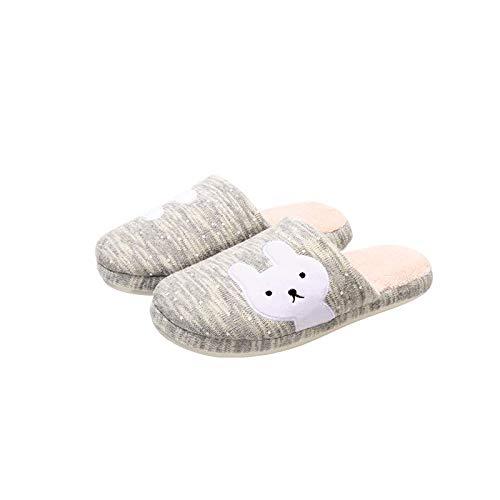 Ding una famiglia di tre bambini pantofole in cotone per genitore-figlio femminile inverno casa coppia coperta antiscivolo fondo spesso baotou caldo