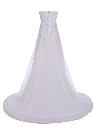 Find Dress Bustier Robe sans Manches Soirée Grande Taille pour Cérémonie Femme Mariage avec Broderie Floral Robe de Bal Longue Princesse Fête Noel Wedding Dress Multicouche Tulle Corail
