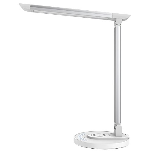 LED Schreibtischlampe TaoTronics Tischlampe mit kabelloser Ladestation Qi kompatibel Wireless Charger 7.5W Schnellladegerät für iPhone X/8/8 Plus, 10W für Galaxy S8/S7/Note 8 alle Qi-fähigen Geräte