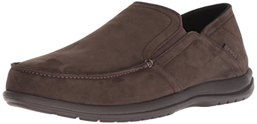 crocs Herren Convertible Leather Slip-On Santa Cruz, umkehrbar, Leder, zum Reinschlüpfen, Espresso, 45 EU (Crocs-herren-santa Cruz Slip On)