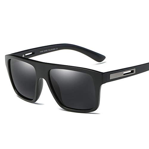 Easy Go Shopping Quadratische Form Vollformat Herren Polarisierte Sonnenbrille Langlebiger UV400-Schutz Fahren Radfahren Laufen Angeln Golf Sonnenbrille Sonnenbrillen und Flacher Spiegel