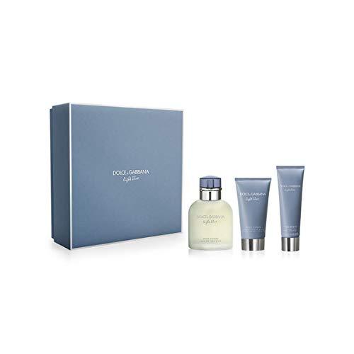 Dolce & Gabbana Light Blue pour Homme Parfüm, after shave balm und Dusche Gel-1Pack -