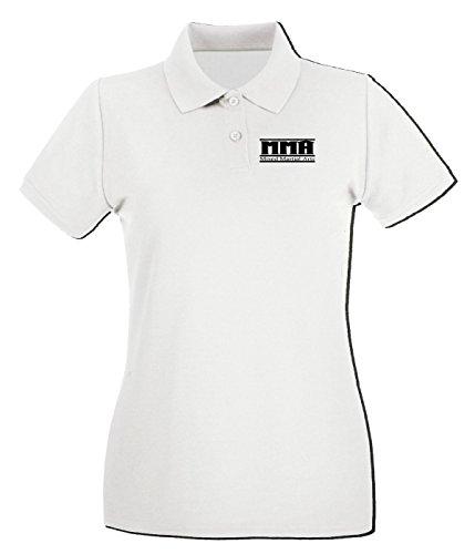 Cotton Island - Polo pour femme TAM0134 mma mixed martial arts hooded sweatshirt Blanc