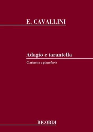 Partitions classique RICORDI CAVALLINI E. - ADAGIO E TARANTELLA - CLARINETTE Clarinette