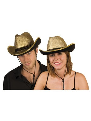 Hut Party Cowboy Cowgirl Shiny gold