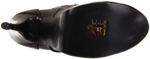 Bordello lunga stivali con plateau Nero tee3000bspt stivali sopra al ginocchio, colore: nero laccato Blk Str Pat