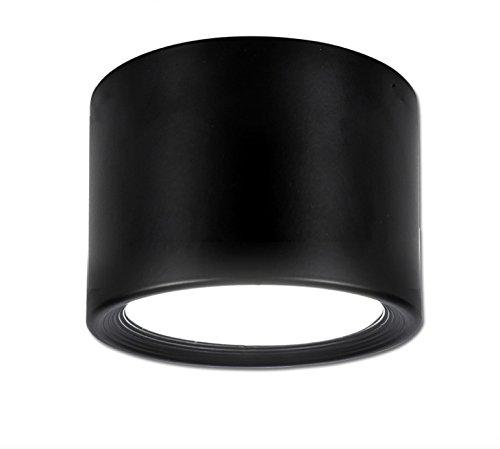 Aufbauleuchte Deckenleuchte Aufputz mit 12W LED Fassung 230V [ alu-silber, schwenkbar] Deckenleuchte Würfelleuchte CUBE Kronleuchter aus Aluminium … (Schwarz 3000K)