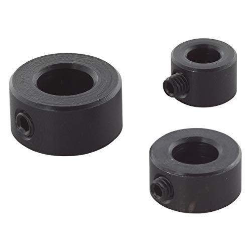Wolfcraft 2751000 2751000-3 topes de Profundidad para Brocas diam. 6, 8, 10 mm, Set de 3 Piezas