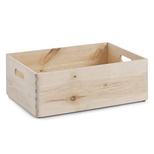 Zeller 13514, cesta portaoggetti in legno, 40 x 30 x 15 cm