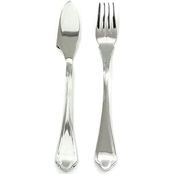 Dishwasher Safe Cutlery Mepra Norma 101022021 24 Pcs Fish Set Metallic Tableware