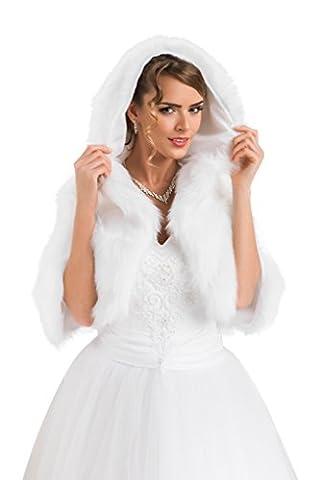Veste femme pour mariée imitation fourrure de vison boléro cape boléro doublure intégrale