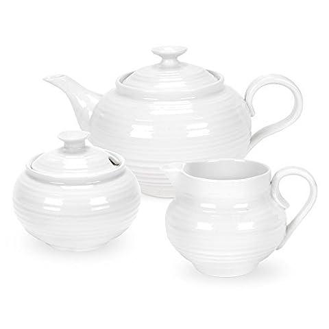 Sophie Conran 3 Piece Tea Set, Teapot Creamer Sugar Pot - Gift Boxed by Sophie Conran