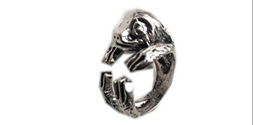 Faultier Ring, wunderschön Made Faultier Ring, Hand als Geschenk verpacken, Faultier Geschenk, silber Tier Ring, verstellbar Ring, Tier Ring
