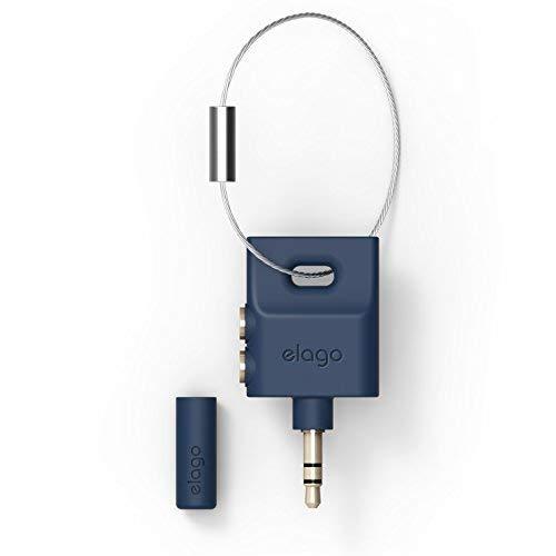 elago Kopfhörer-Teiler für iPhone iPad Galaxy und jedes tragbare Gerät mit 3,5 mm Jean Indigo -