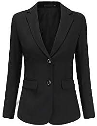 Rojeam Donna Elegante Tailleur Pantalone Tailleur Gonna Classico per  Ufficio Donna Giacca Camicia per Primavera Autunno e57a15913b76