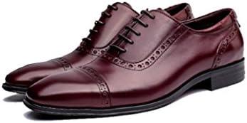 FZHLY Zapatos De Cuero De Negocios Para Hombres Zapatos De Vestir Impermeables Y Resistentes Al Desgaste Zapatos...