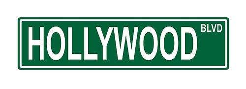 Promini Hollywood BLVD. Straßenschild, lustiges Scherz, aus Aluminium, 45,7 x 10,2 cm