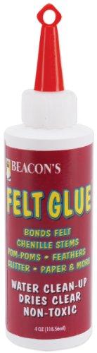 Beacon Adhesive Filzkleber 118 ml mittlere Flasche, klar Handwerk Klebstoff, Andere, Trocknet glasklar 16x5x5 cm