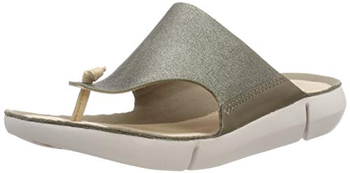 Clarks Damen Tri Carmen Sneaker, Grün (Olive), 40 EU -