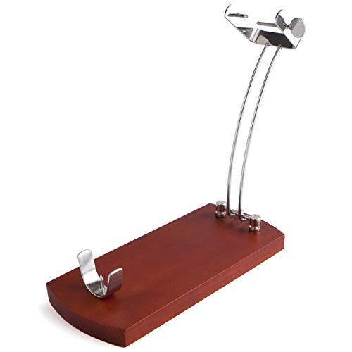 MovilCom® - Soporte jamonero Plegable, Tabla de Cortar Jamon de Madera | Acabados en Acero (Mod.654306)